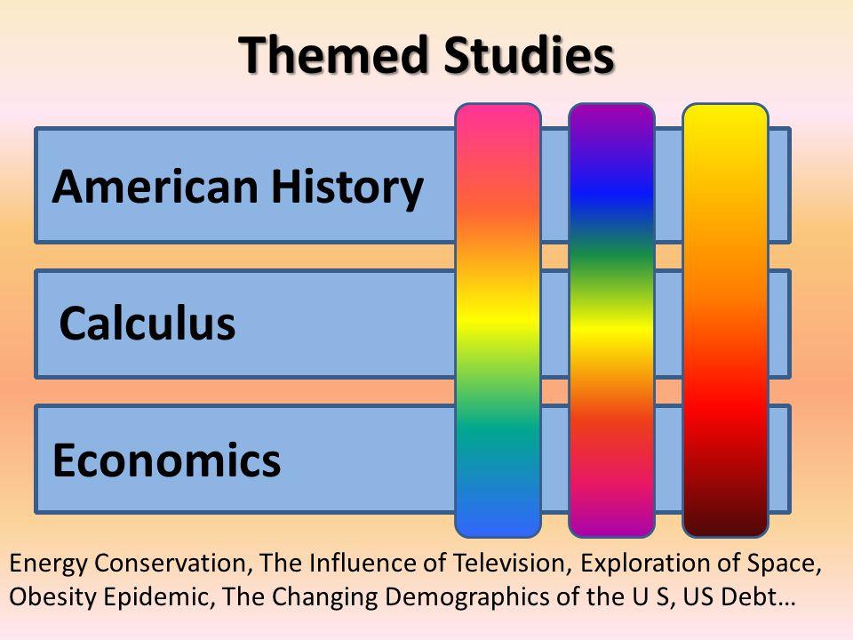 Themed Studies American History Calculus Economics