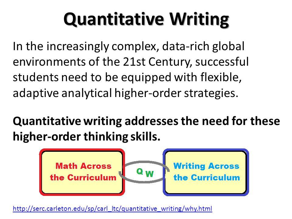 Quantitative Writing