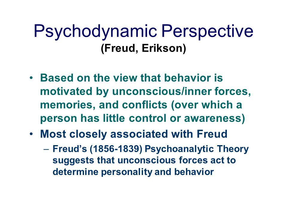 Psychodynamic Perspective (Freud, Erikson)