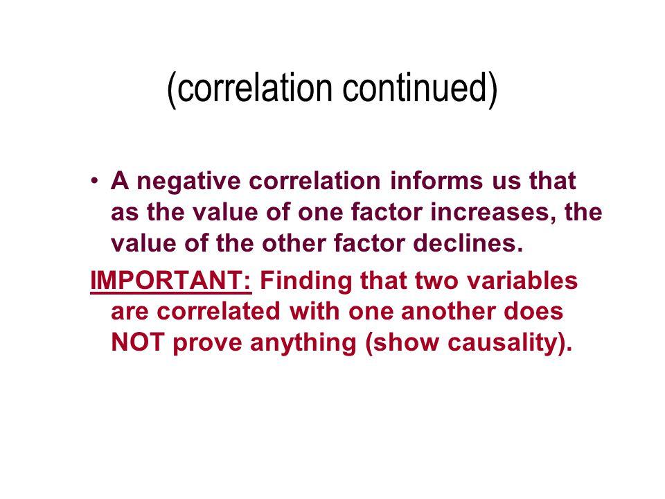 (correlation continued)