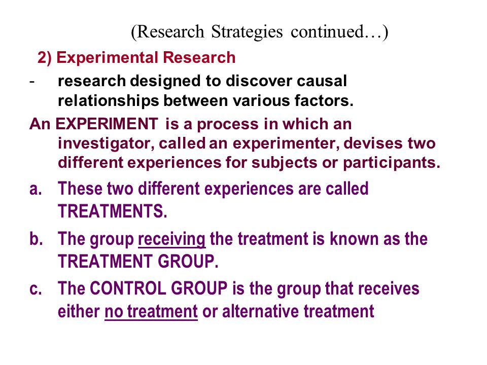 (Research Strategies continued…)
