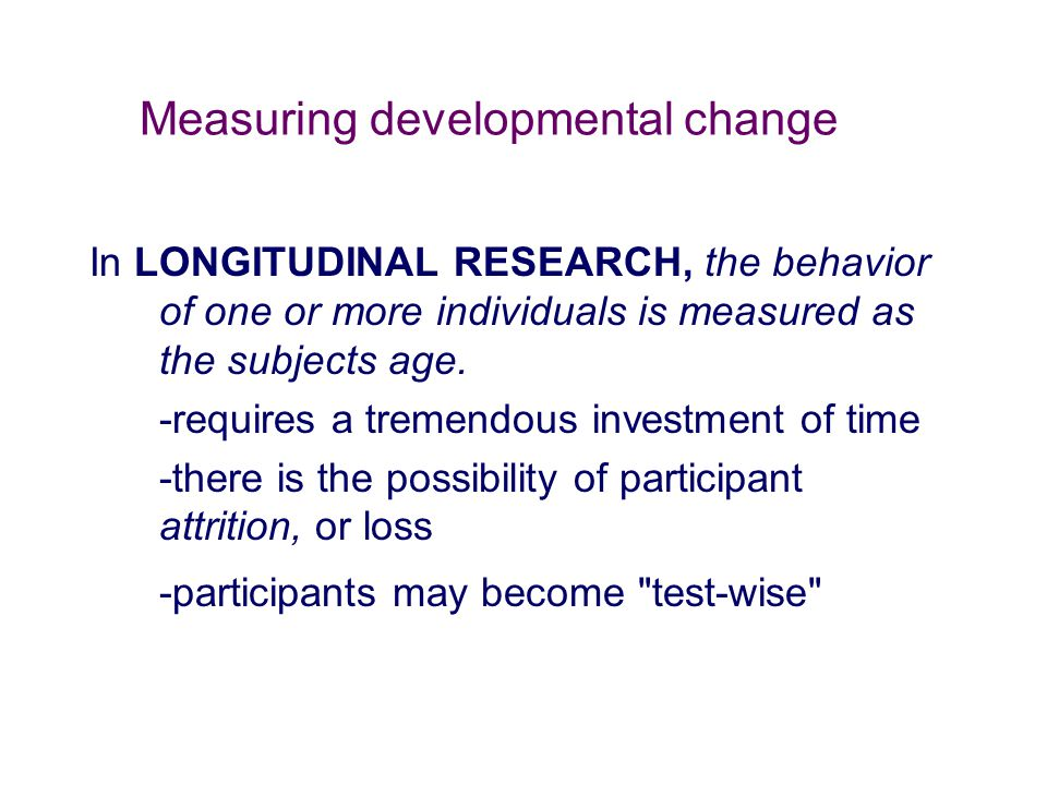 Measuring developmental change