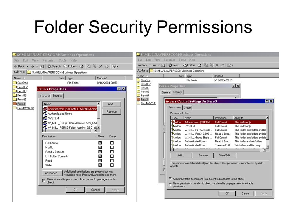Folder Security Permissions
