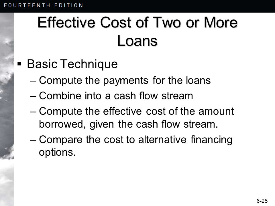 Effective Cost of Two or More Loans