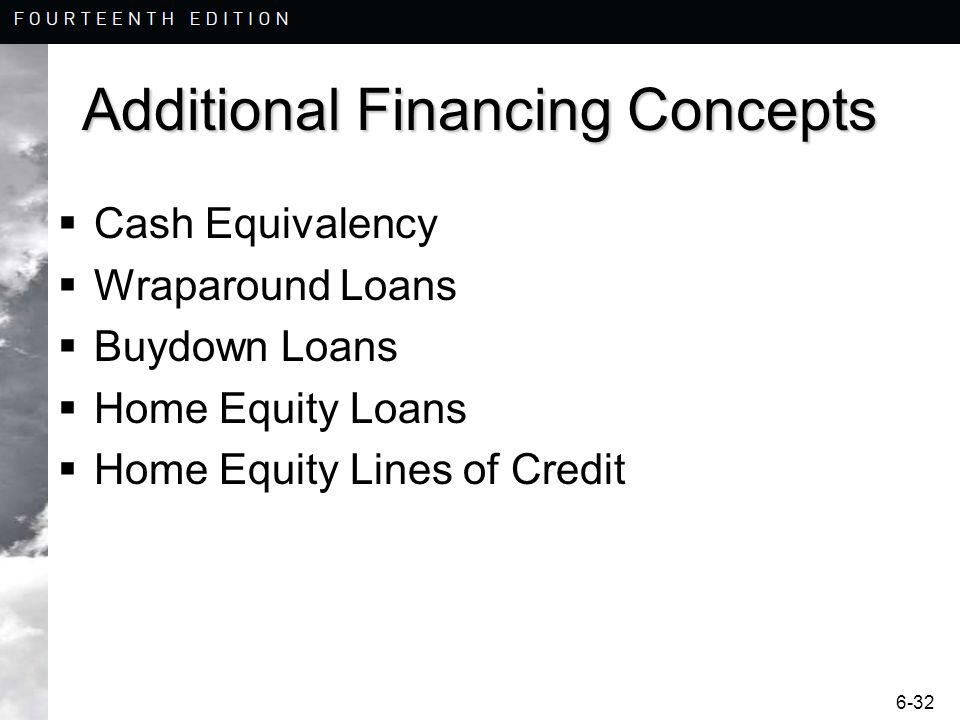 Additional Financing Concepts