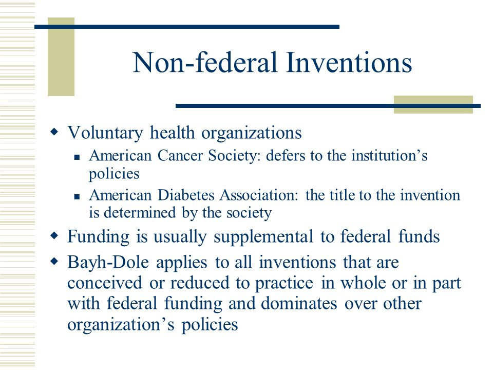 Non-federal Inventions
