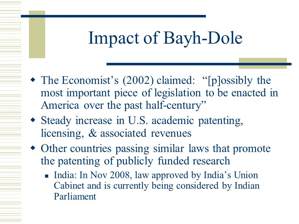 Impact of Bayh-Dole
