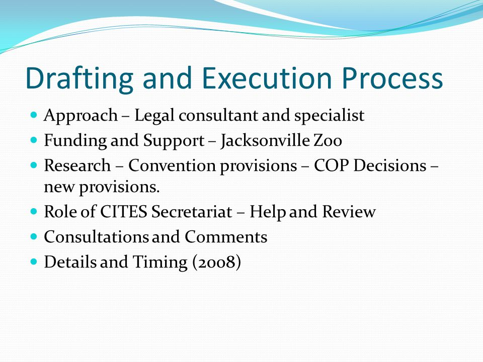 Drafting and Execution Process