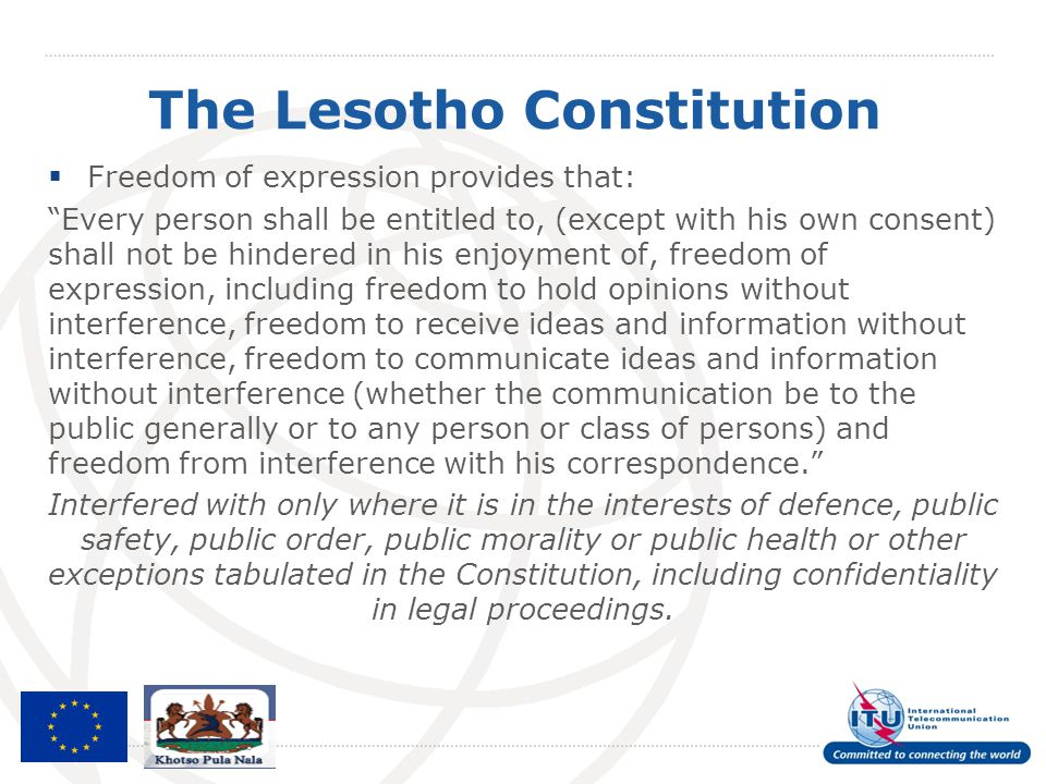 The Lesotho Constitution