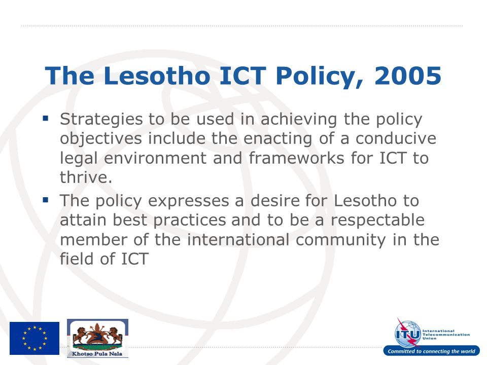 The Lesotho ICT Policy, 2005