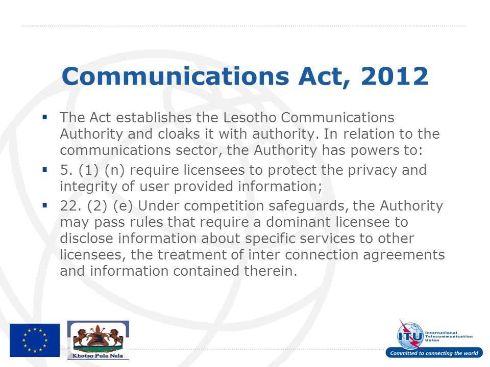 Communications Act, 2012