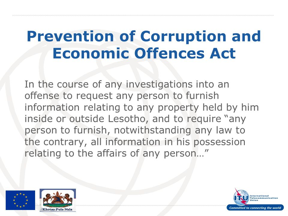 Prevention of Corruption and Economic Offences Act