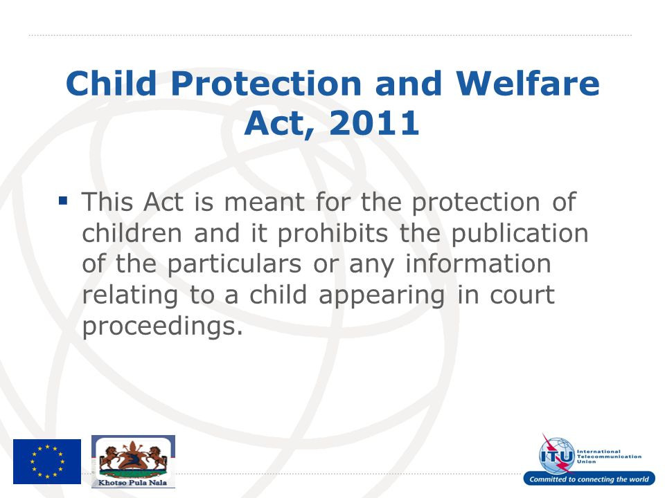 Child Protection and Welfare Act, 2011