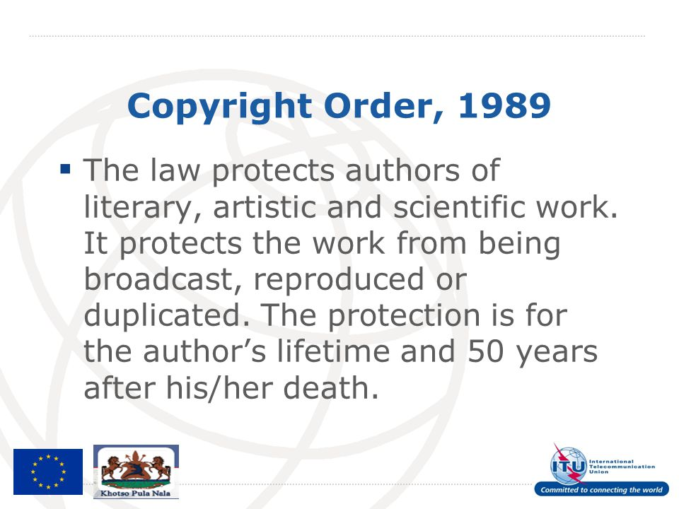 Copyright Order, 1989