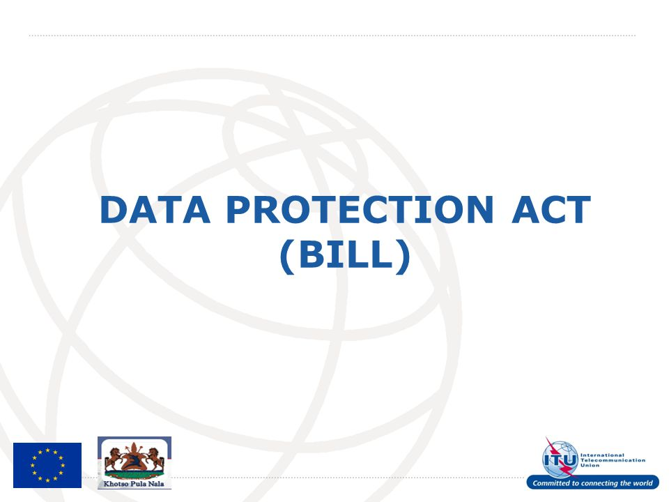 DATA PROTECTION ACT (BILL)