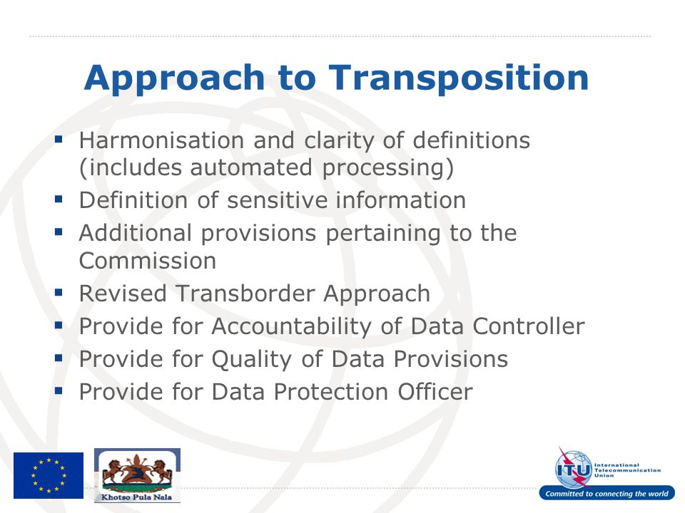 Approach to Transposition