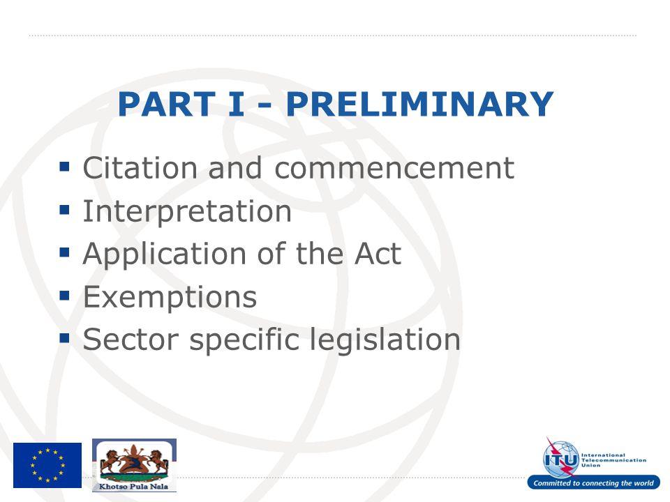 PART I - PRELIMINARY Citation and commencement Interpretation