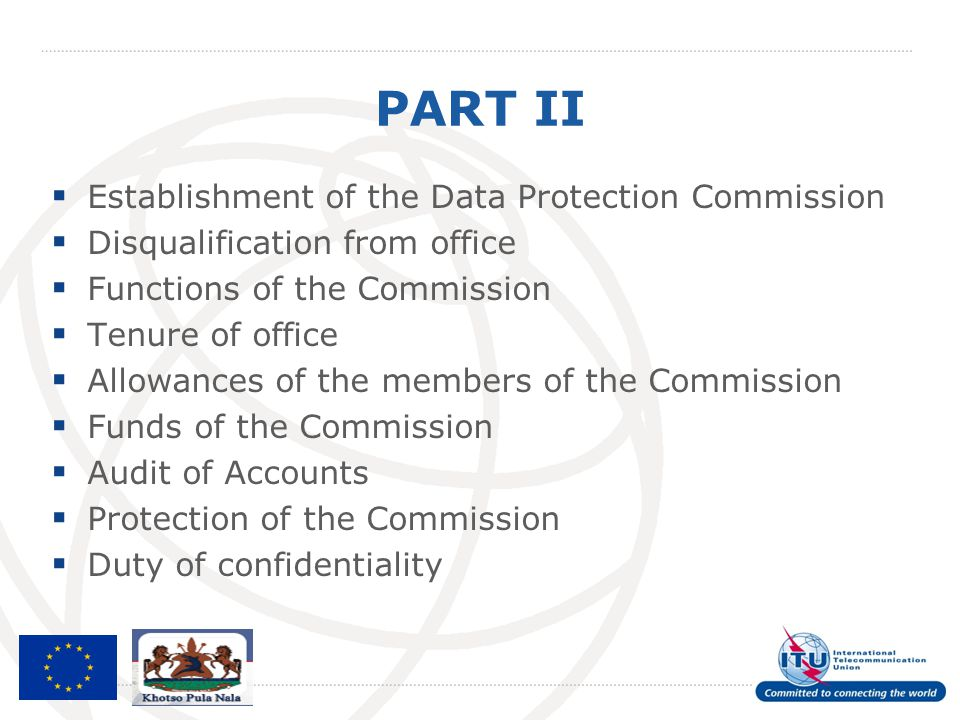 PART II Establishment of the Data Protection Commission