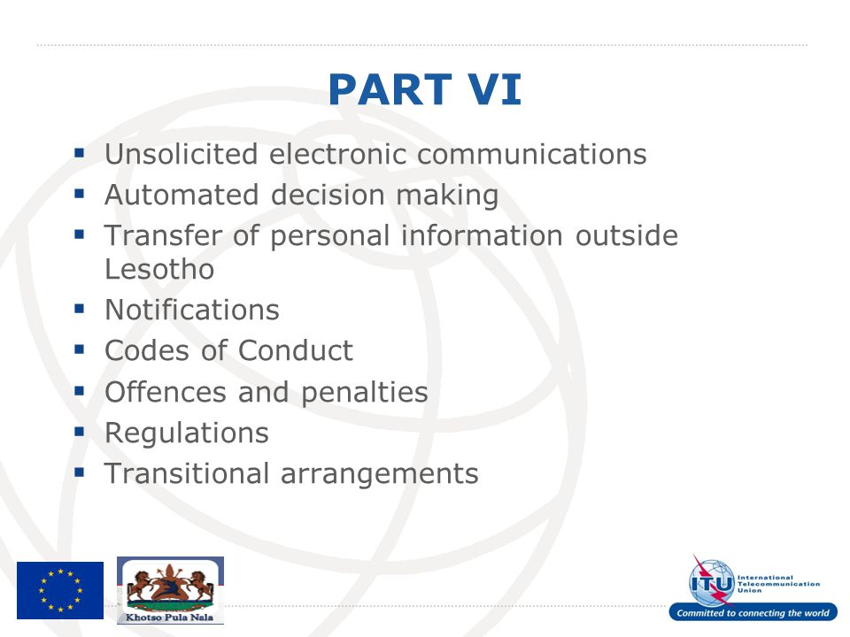 PART VI Unsolicited electronic communications
