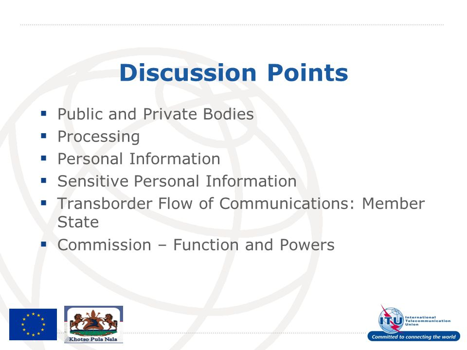 Discussion Points Public and Private Bodies Processing