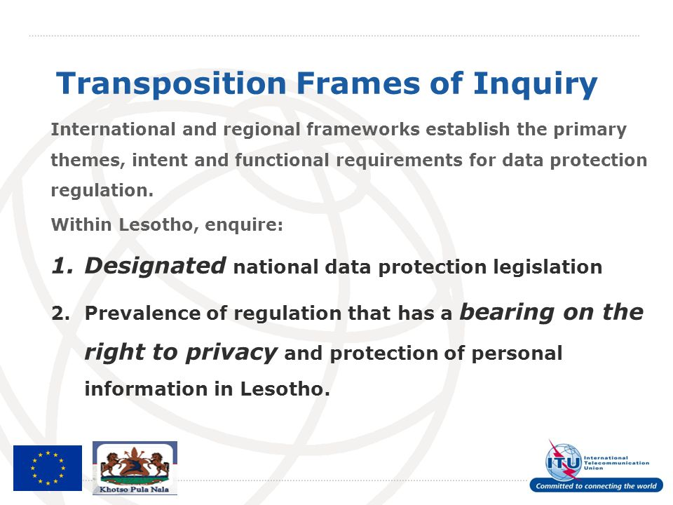 Transposition Frames of Inquiry