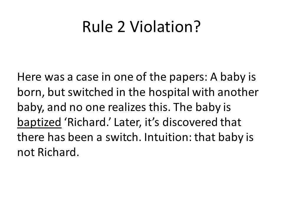 Rule 2 Violation