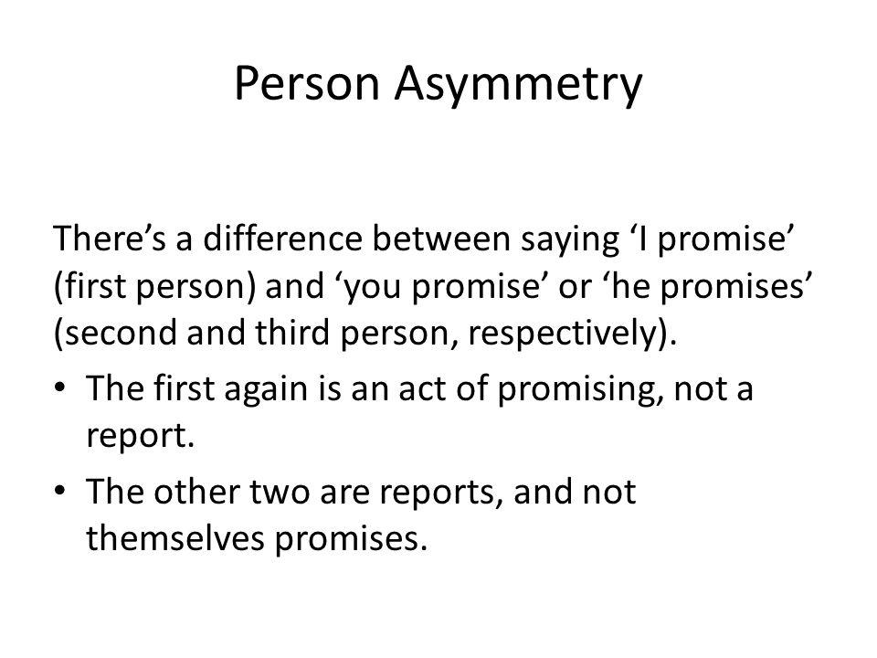 Person Asymmetry