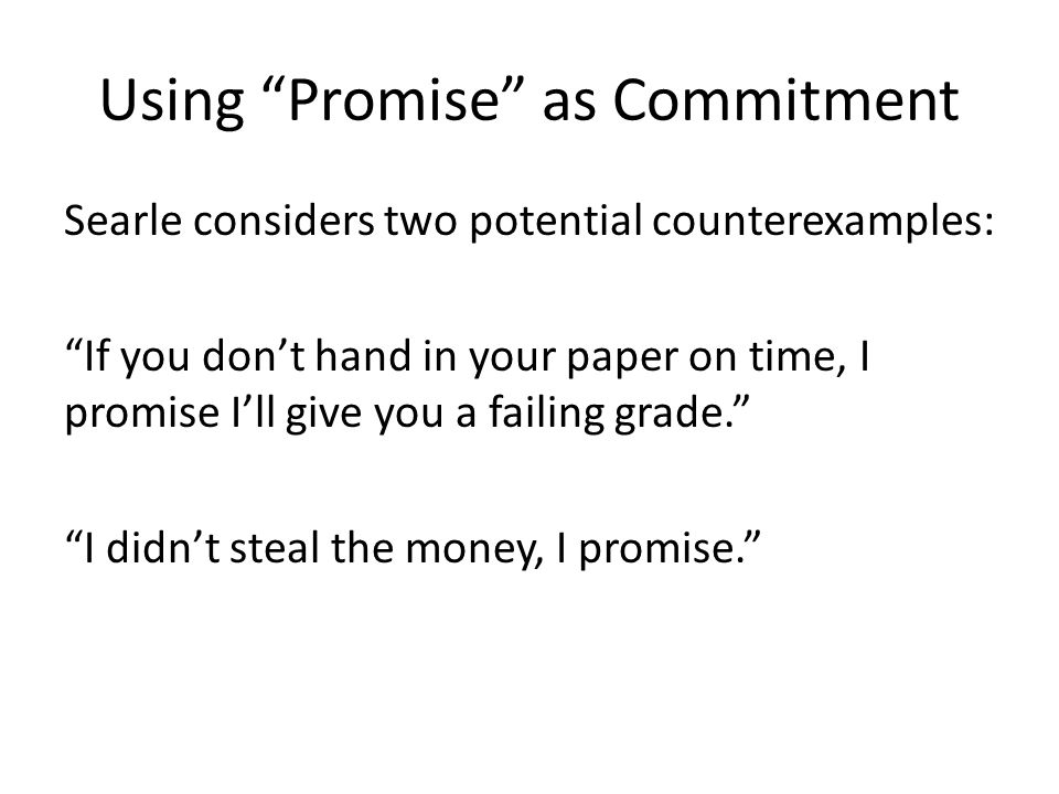 Using Promise as Commitment