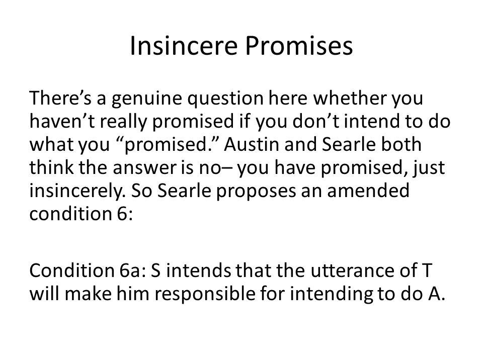 Insincere Promises