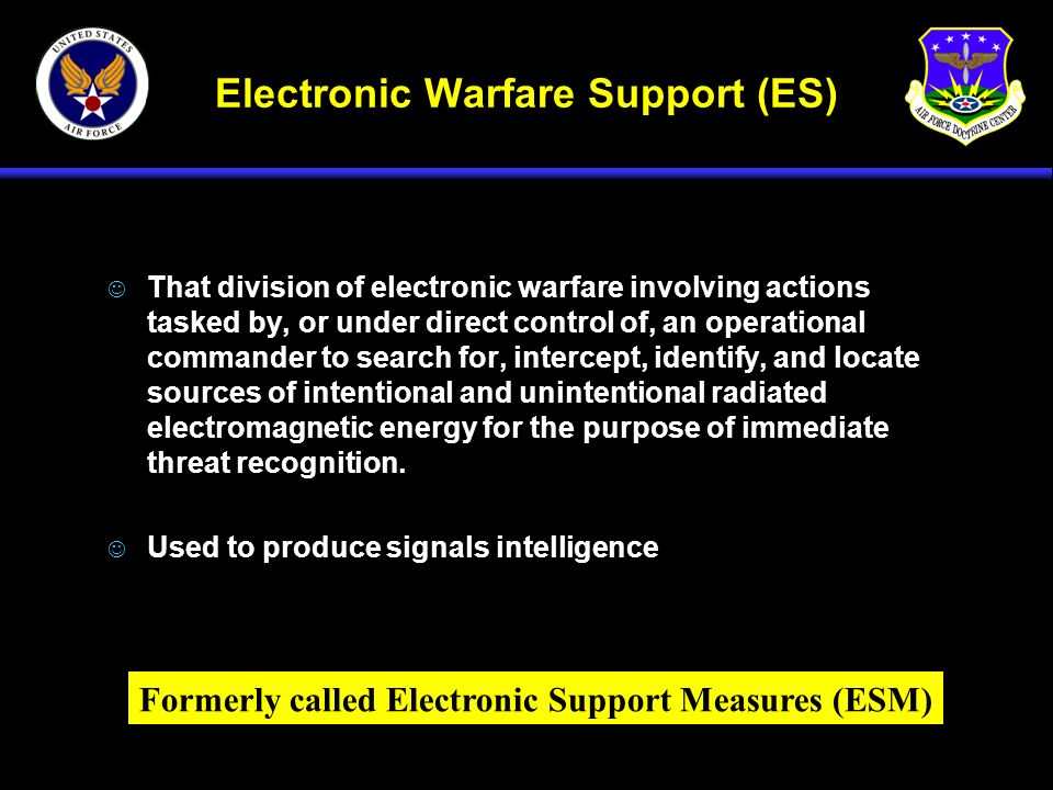 Electronic Warfare Support (ES)