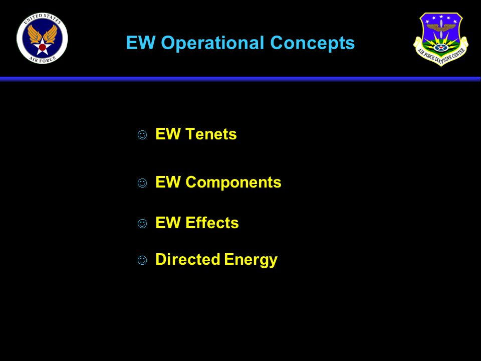 EW Operational Concepts