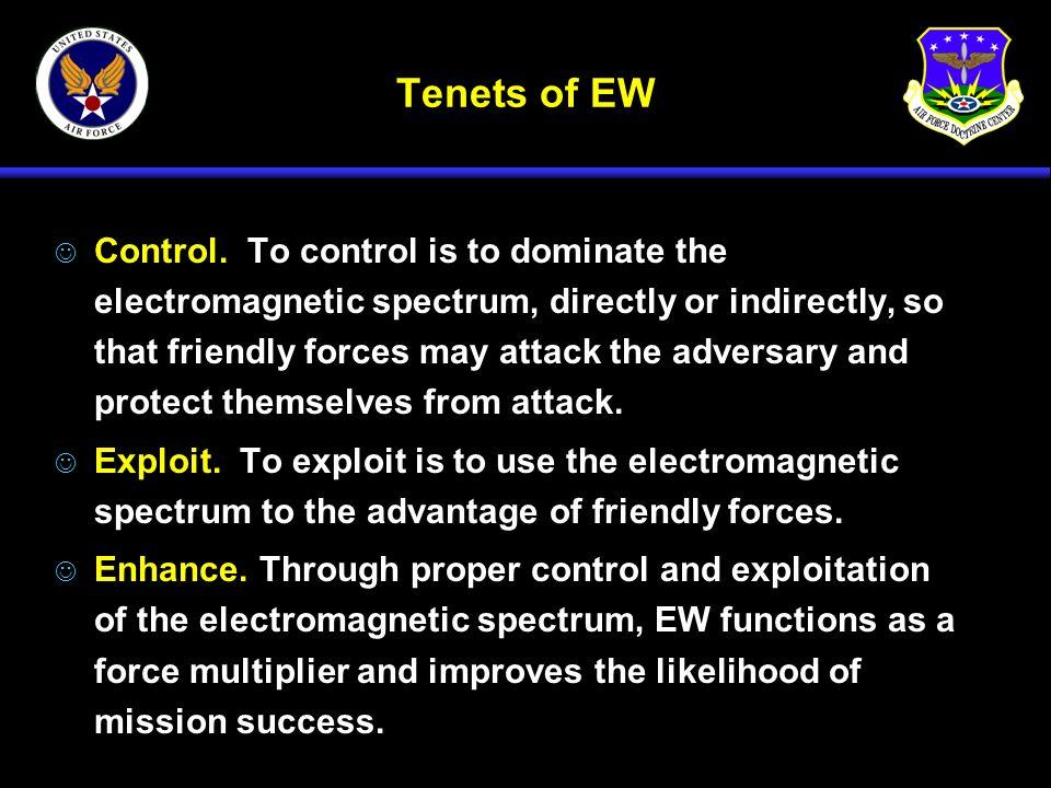 Tenets of EW