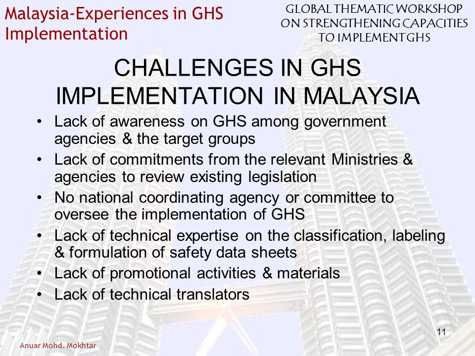 CHALLENGES IN GHS IMPLEMENTATION IN MALAYSIA