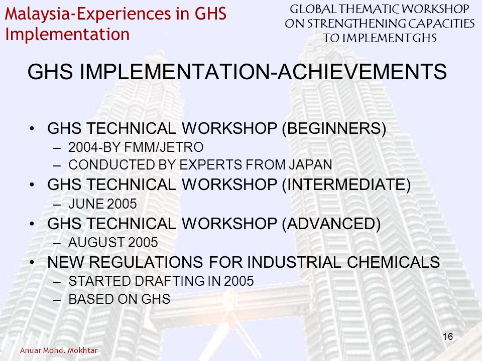 GHS IMPLEMENTATION-ACHIEVEMENTS