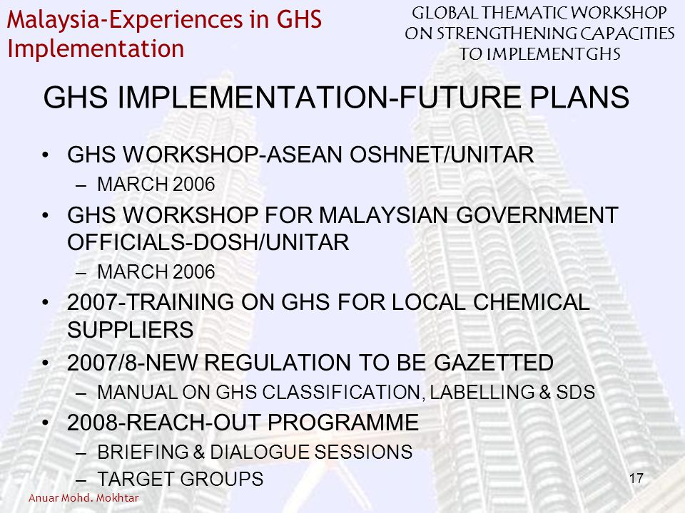 GHS IMPLEMENTATION-FUTURE PLANS