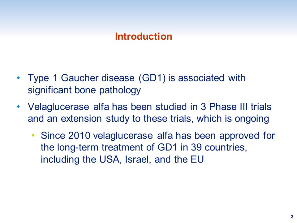 Introduction Type 1 Gaucher disease (GD1) is associated with significant bone pathology.