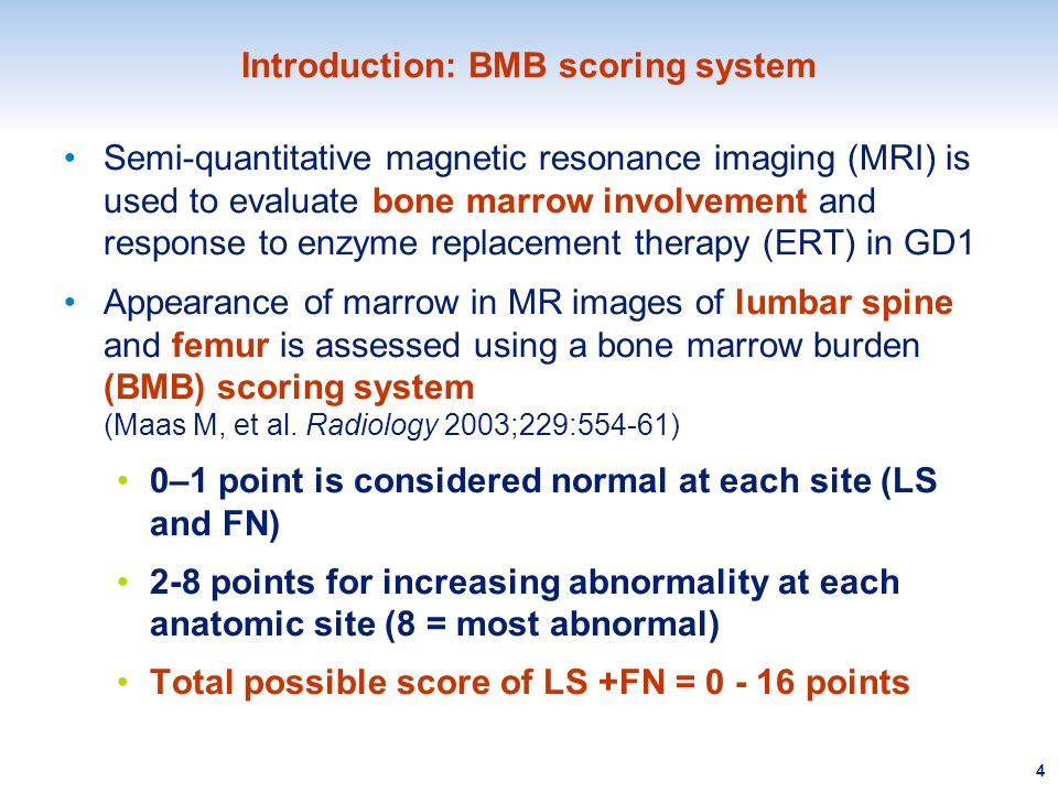 Introduction: BMB scoring system