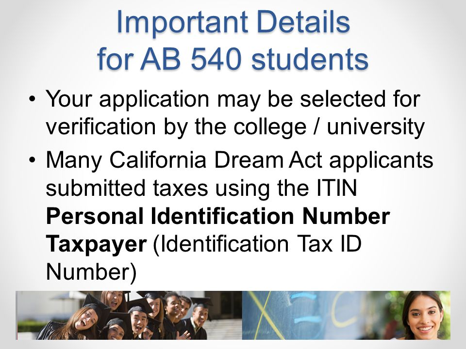 Important Details for AB 540 students
