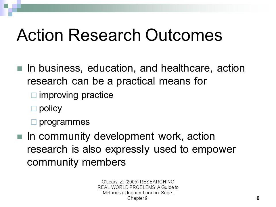 Action Research Outcomes