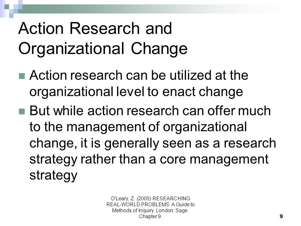 Action Research and Organizational Change