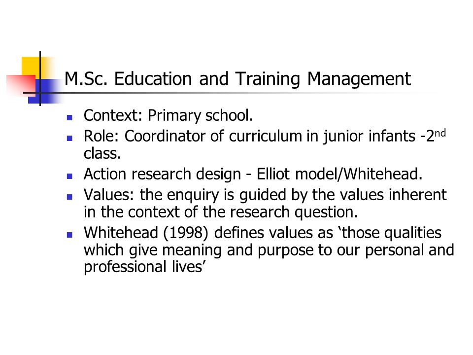 M.Sc. Education and Training Management