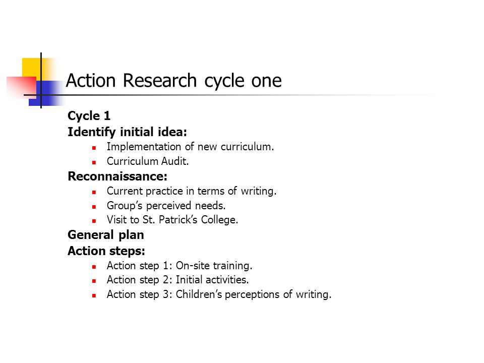 Action Research cycle one