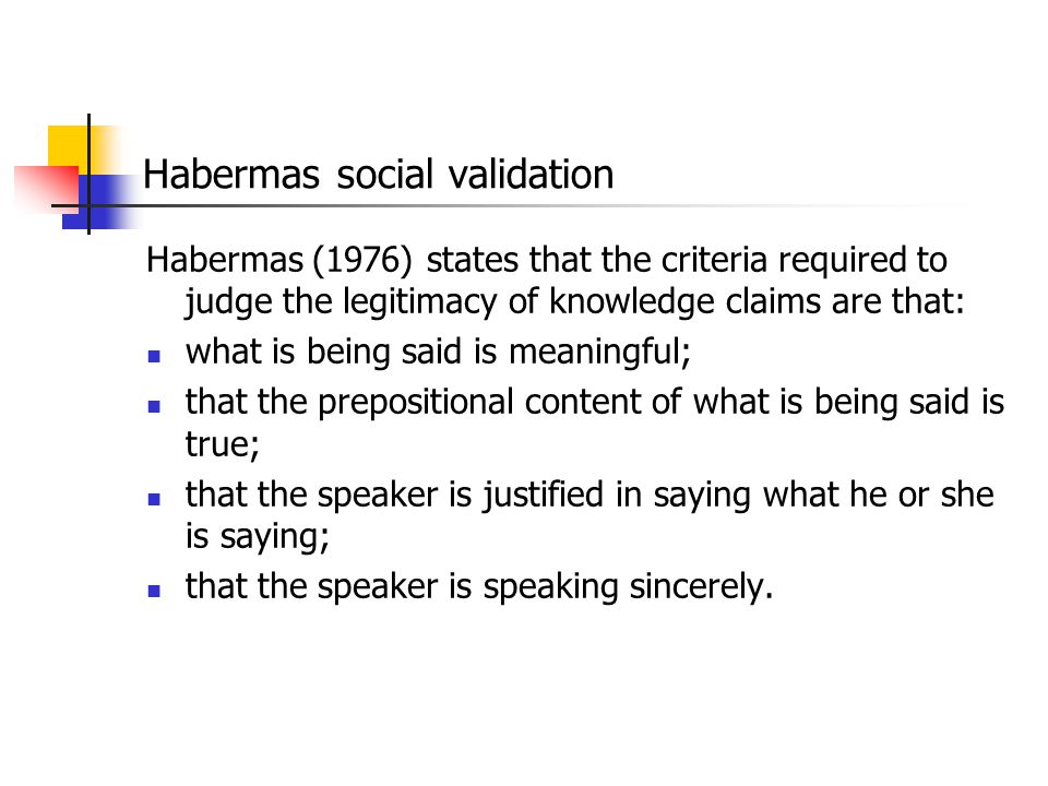 Habermas social validation