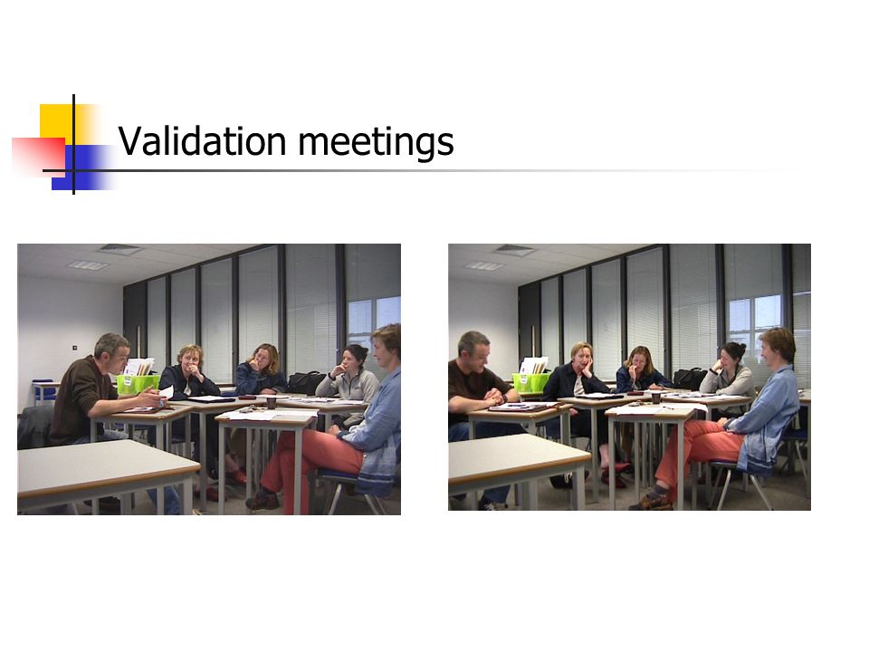 Validation meetings