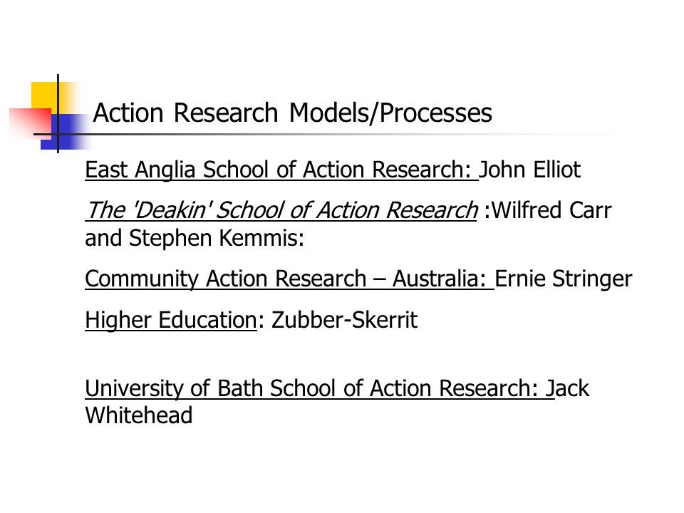 Action Research Models/Processes