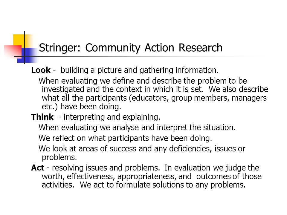 Stringer: Community Action Research