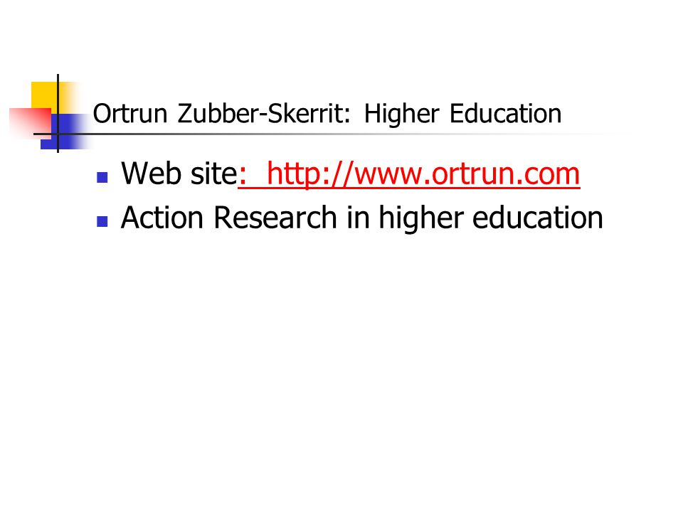 Ortrun Zubber-Skerrit: Higher Education