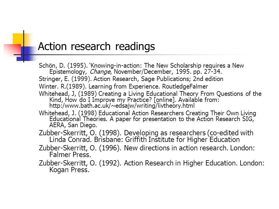 Action research readings