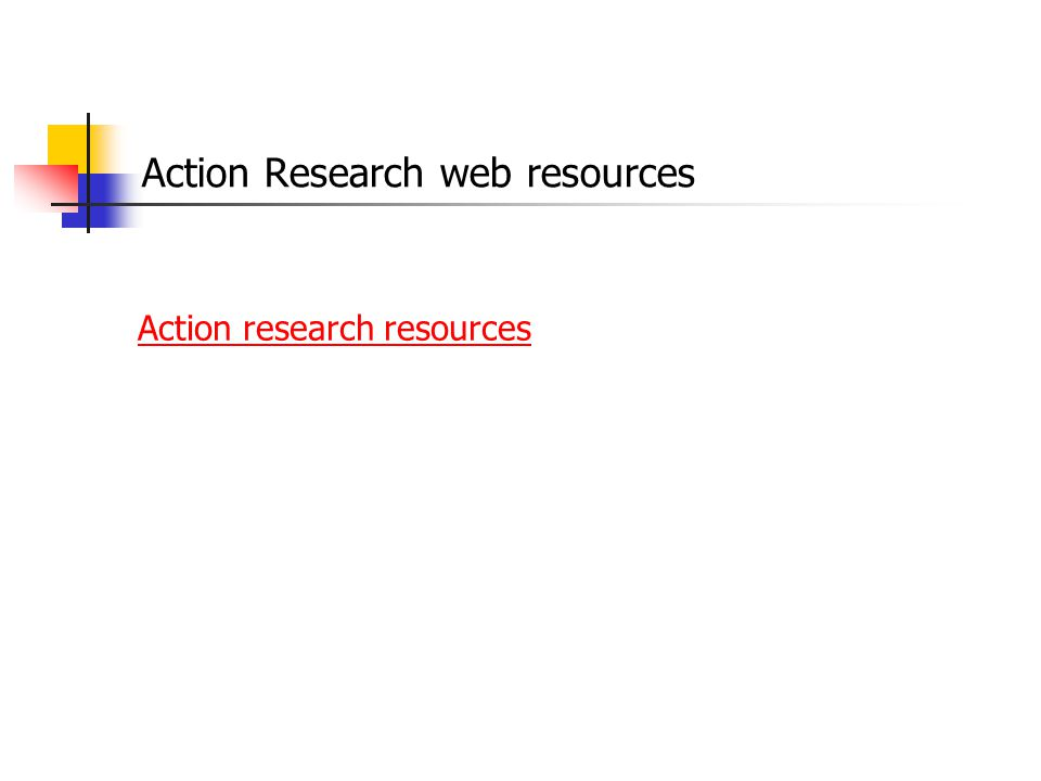 Action Research web resources