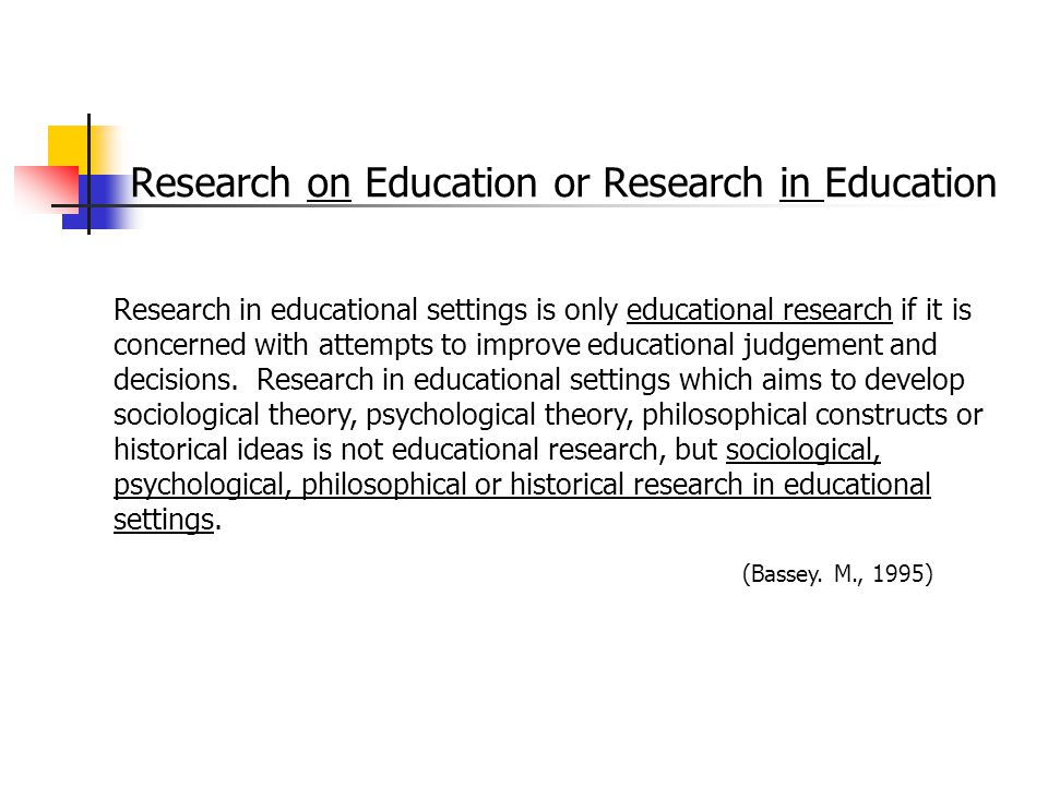 Research on Education or Research in Education